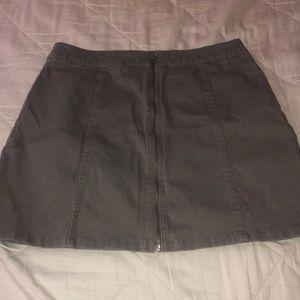 Gray jean skirt